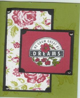 Cardmaking Idea – Dreams