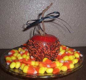 Halloween Faux Caramel Apple Decoration