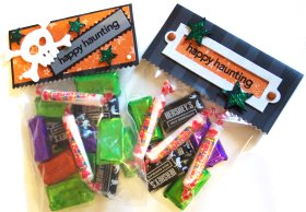 stamped treat bags
