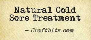 Natural Cold Sore Treatment