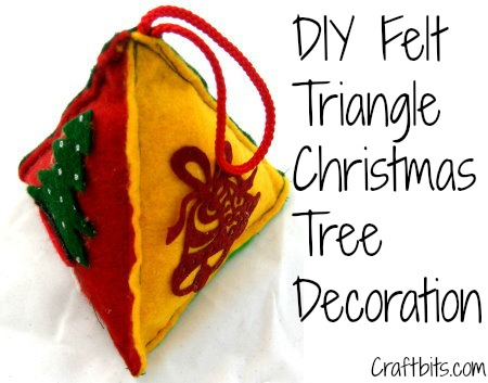 DIY Christmas Triangle Ornament