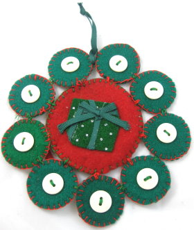 Tree Ornament: Snowflake Present