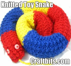 Knitted Toy Snake