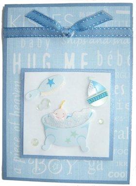 Baby Boy Hug Me Card