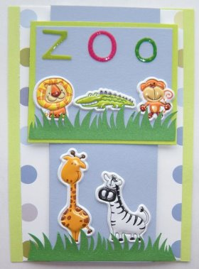 Cardmaking Idea – First Time At The Zoo
