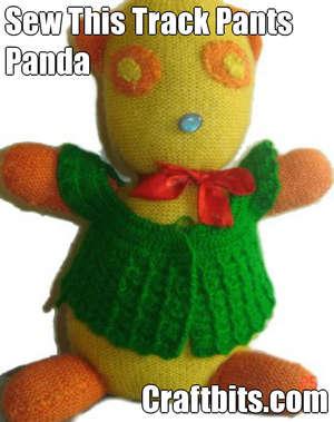 Recycled Wool Pants Panda