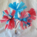 4th of July Coffee Filter Firework Flowers