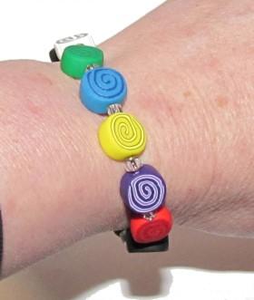 Polymer Clay – Colors Of Faith Bracelet