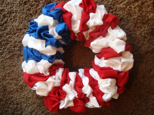 4th of July – Holiday Fabric Wreath
