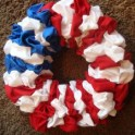 4th of July - Holiday Fabric Wreath