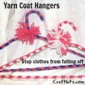 Yarn Covered Coat Hangers