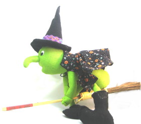 Cheeky Halloween Witch Plushie