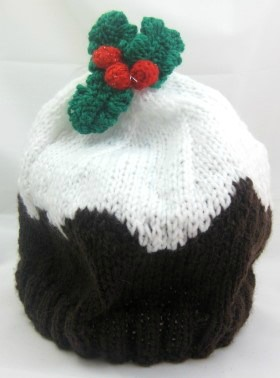 Knitting Pattern For Xmas Pudding Jumper : Childs Hat - Christmas Pudding Beanie - Christmas Crafts ...