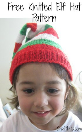 Knitted Christmas Elf Hat - Christmas Crafts - craftbits.com