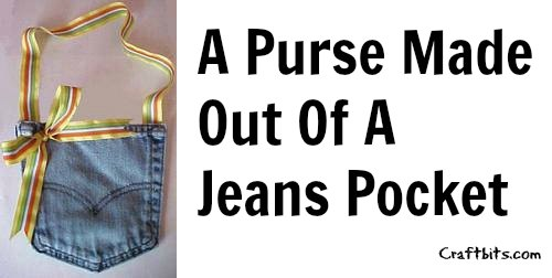Recycled Jean Pocket Purse