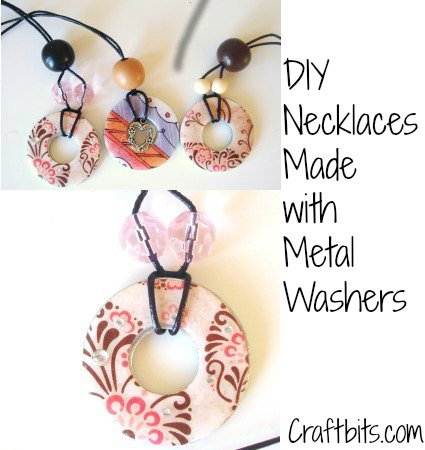 Metal Washer Necklaces