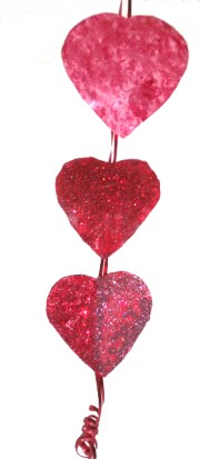 Valentine Hearts Wall Dangler