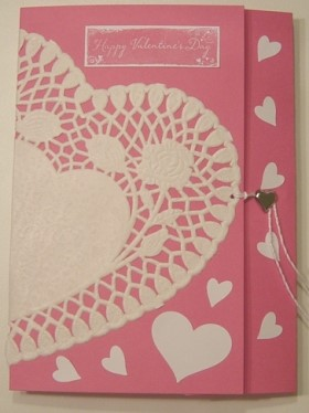paper doily heart card