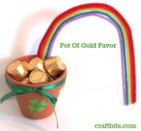 St Patrick's Day Pot Of Gold Favor