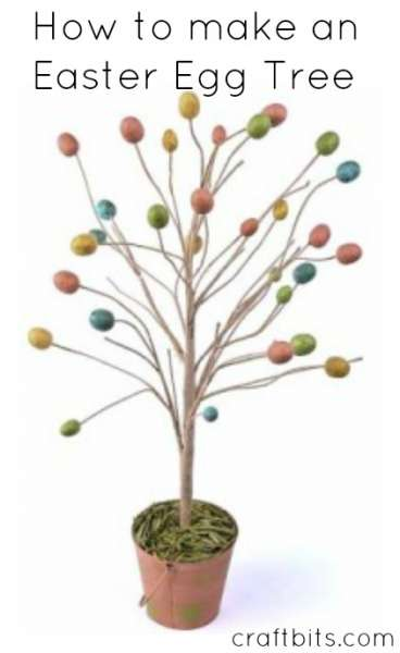 Decorated easter egg tree easter crafts How to make an easter egg tree