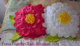 Fleece Flower Petal Pillow