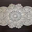 Pineapple Oval Doily