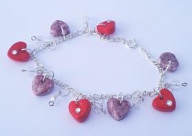 Polymer Clay – Heart Charm Bracelet