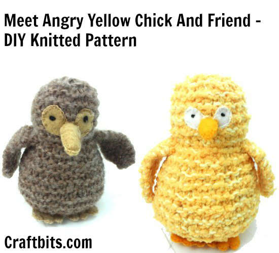 Knitted Yellow Chick