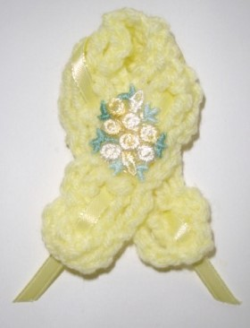 Crochet Awareness Ribbon Pin