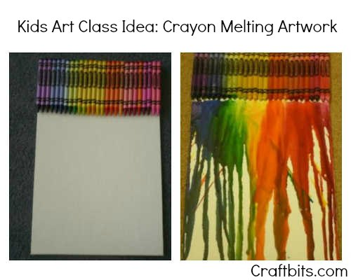 Crayon Melting Artwork