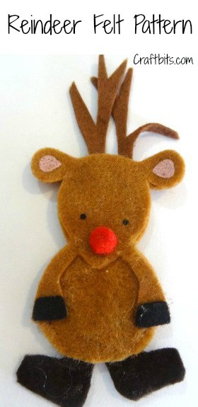 Christmas Brooch: Felt Reindeer