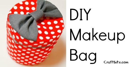 DIY Round Travel Makeup Bag