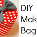 DIY Round Travel Makeup Bag