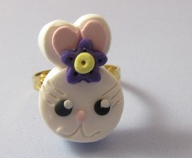 Polymer Clay – Easter Bunny Ring
