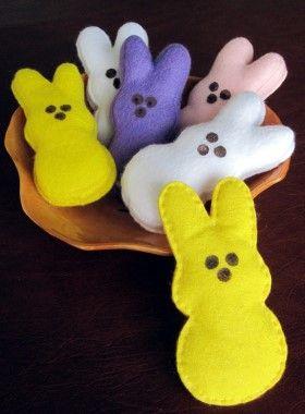 How to make felt Bunny Peeps
