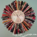 Recycled Magazine Clock