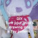 Plushie - Hand Drawn Panda