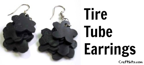 Earrings Made From Tire Tube