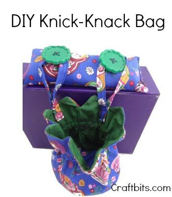 Make A Table Bag To Hold Nick Nacks
