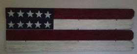 4th of July Rustic American Flag