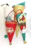 Vintage Christmas Cones
