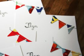 Cereal Box Bunting Stationery