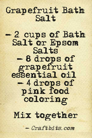 bath salt grapefruit recipe