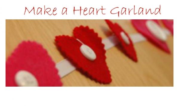 Valentines Day Heart Garland