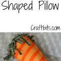 Pillow Shaped Like Easter Carrot