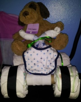 diaper car for baby shower