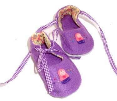 Win a pair of Handmade Felt Baby Shoes