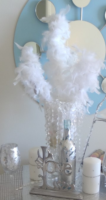 Faux Ostrich Feather Centrepiece