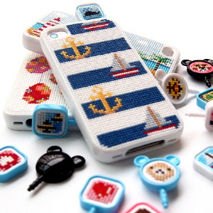 Win 1 of 3 Cross-stitch pins for your iPhone or Galaxy Phone