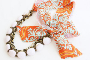 Fabric Chunky Chain Necklace
